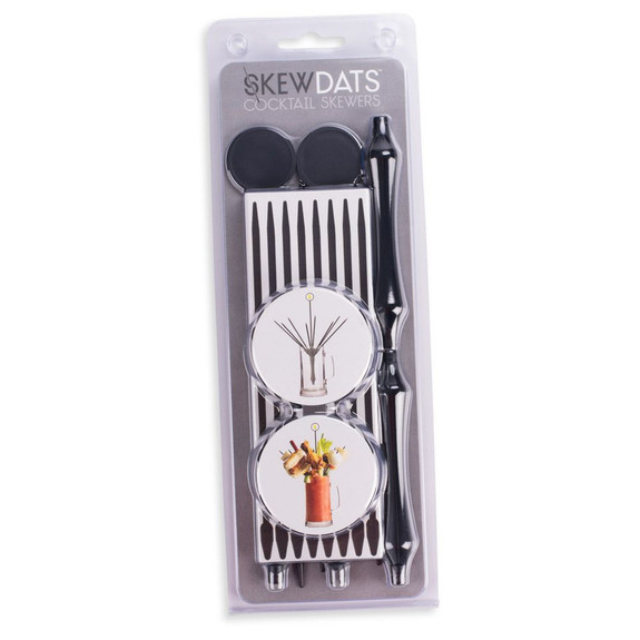 Skewdats Reusable Cocktail Garnish Skewers - Pack of 2