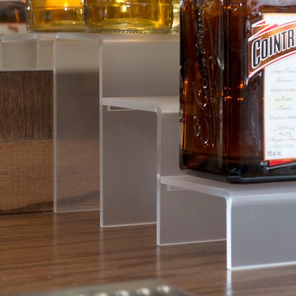 12-inch 3 Tier Liquor Bottle Shelf - Translucent