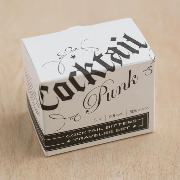 Cocktail Punk Cocktail Bitters Traveler Set - Includes Six 0.5 oz Bottles