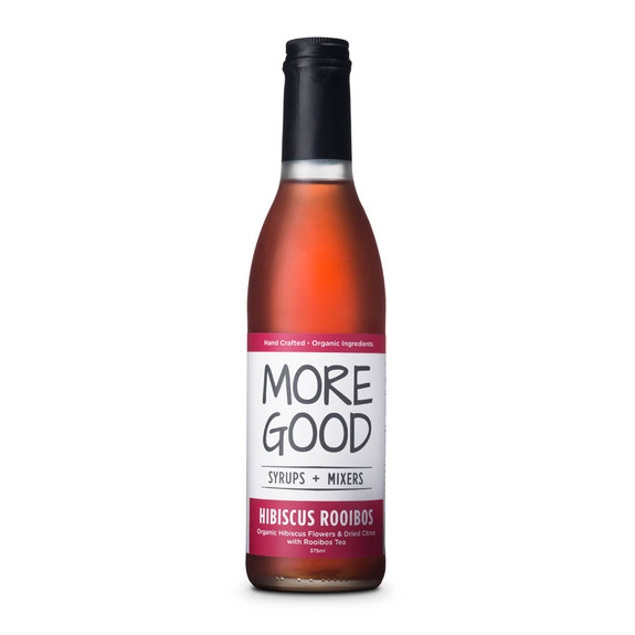 More Good Handcrafted Organic Hibiscus Rooibos Cocktail Mixer & Soda Syrup - 375ml