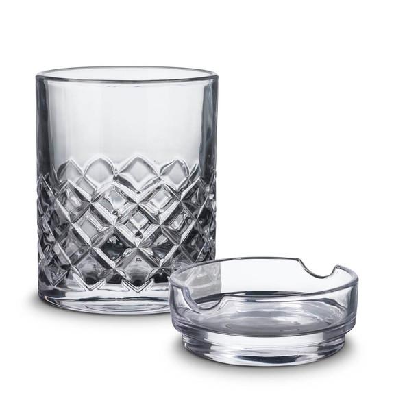 Godinger Whiskey & Cigar Gift Set - Includes Rocks Glass with Cigar Ashtray