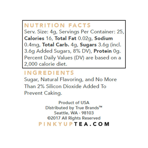 Coconut Flavored Cocktail Sugar - Nutritional Facts