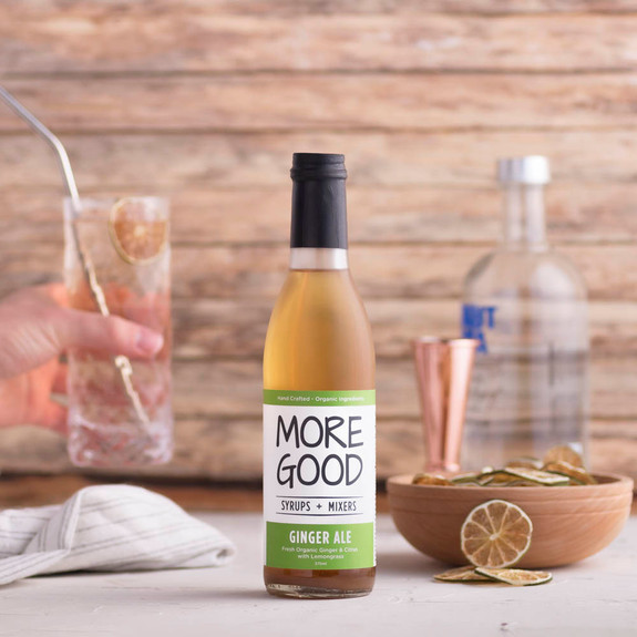 More Good Handcrafted Organic Ginger Ale Cocktail Mixer & Soda Syrup - 375ml