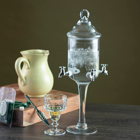 Glass Absinthe Fountain - Four Faucets