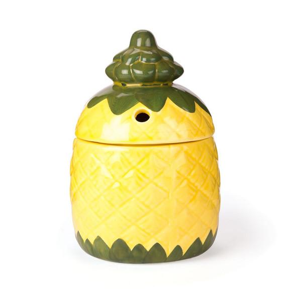 Pineapple Ceramic Tiki Mug with Lid - 12 oz