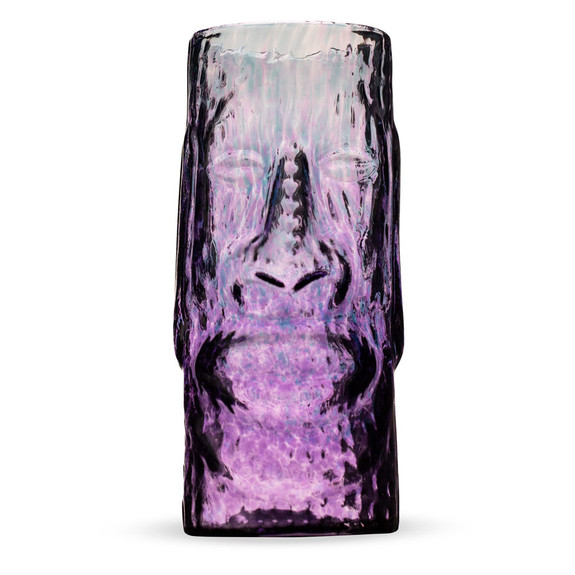Moai Eclipse Handcrafted Mold Blown Glass Tiki Mug - 13 oz