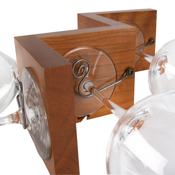 Slalom Wineglass Rack - Cherry - 4 Glass