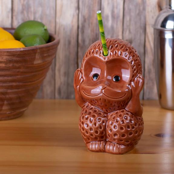 Monkey Hear Ceramic Tiki Mug - 12 oz