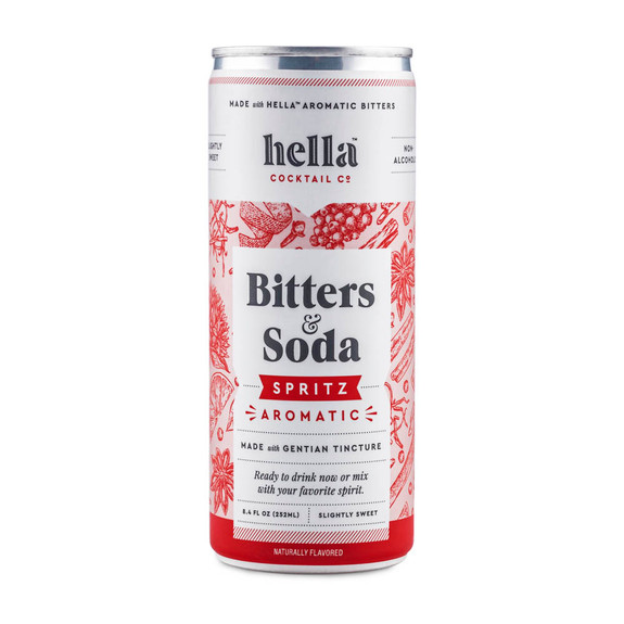 Hella Cocktail Co. Bitters & Soda Spritz Aromatic Premium Mixer - 8.4 oz Cans - 4-Pack