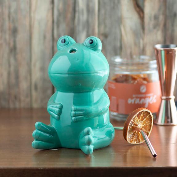 Green Frog Tiki Mug - 12 oz