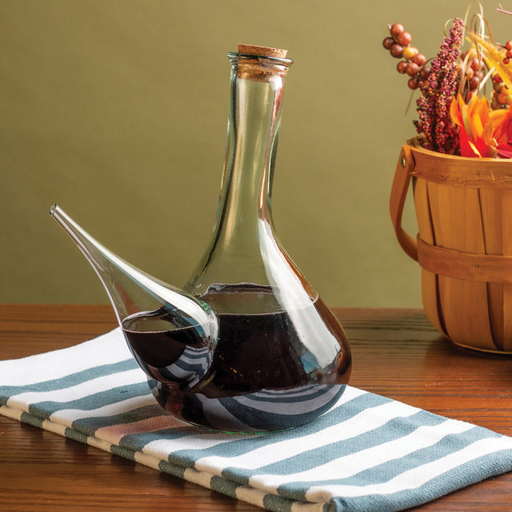 Hand-Blown Glass Spanish Porron Wine Pitcher