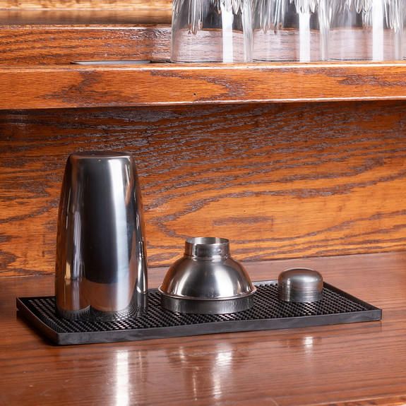"""Shaker Bar Mat - Black Rubber - 12"""" x 6"""""""