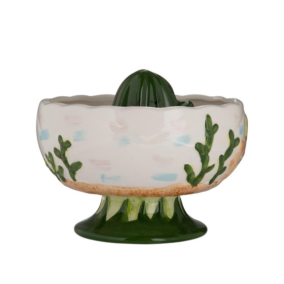Mexican Cactus Ceramic Scorpion Shared Tiki Cocktail Bowl - 32 oz