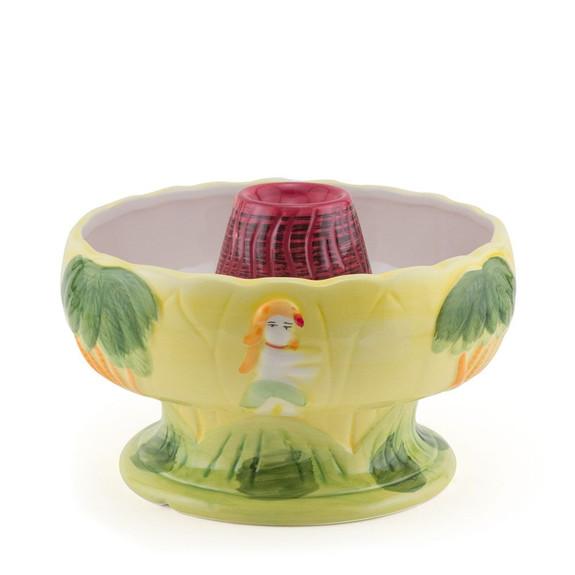Big Volcano Ceramic Tiki Drink Bowl - 48 oz