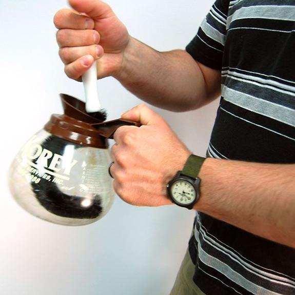 coffee pot brush