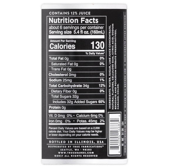 Collins Moscow Mule Cocktail Mix - 32 oz - Nutritional Facts