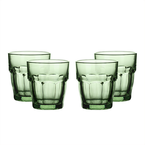 Bormioli Rocco Colored Rocks Glasses - 9.25 oz - Set of 4