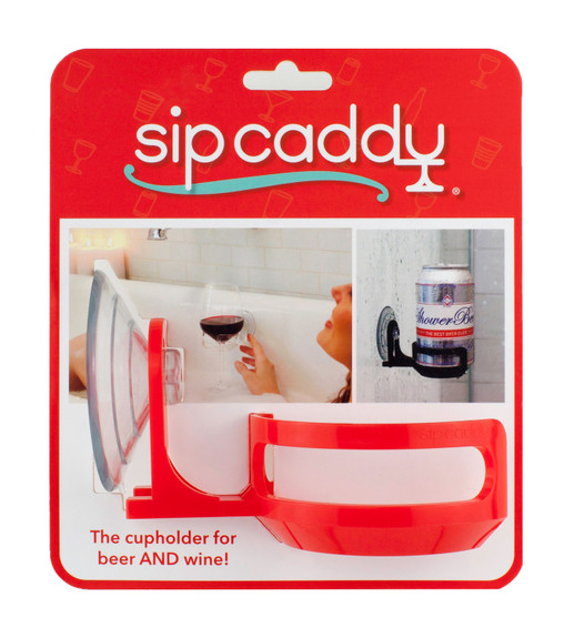 SipCaddy Shower & Bath Drink Holder Caddy - For Beer, Wine & More