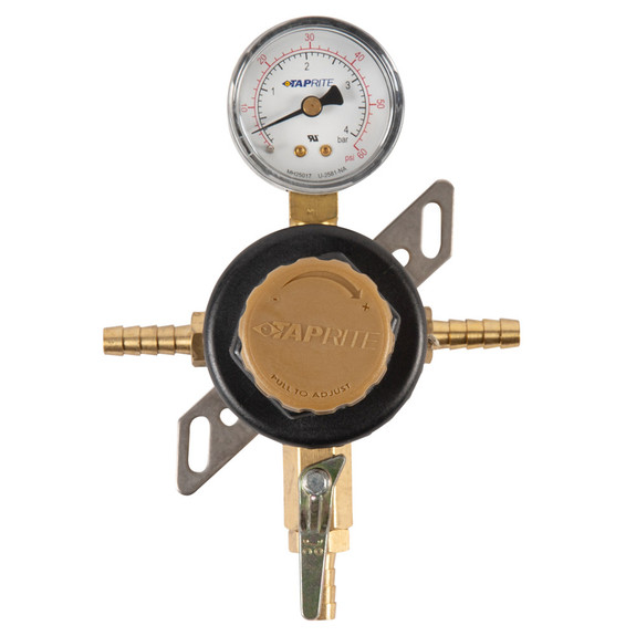 1-Way Secondary Air Regulator - Polycarbonate Bonnet - 2 Hose Barbs