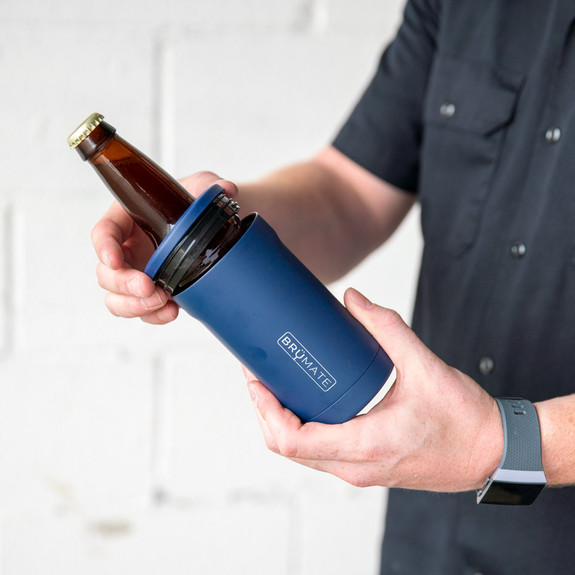 Br��Mate Hopsulator BOTT'L Stainless Steel Triple Insulated Bottle Cooler - Holds 12 oz Bottles