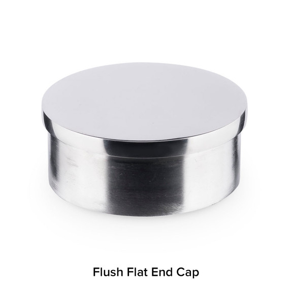 Flush Flat End Cap - Polished Stainless Steel