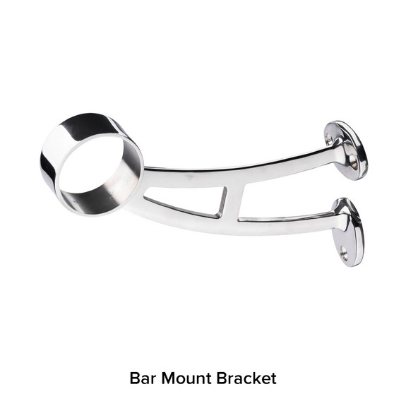 Bar Mount Bracket - Polished Stainless Steel