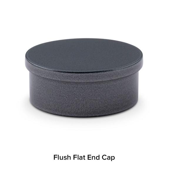 Flush Flat End Cap - Gunmetal Grey