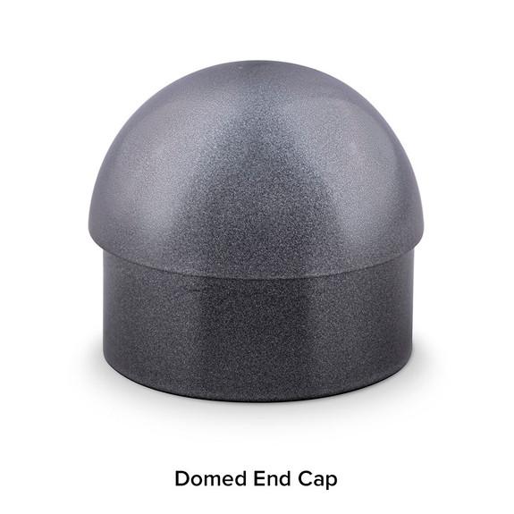 Domed End Cap - Gunmetal Grey