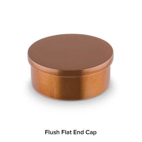 Flush Flat End Cap - Sunset Copper