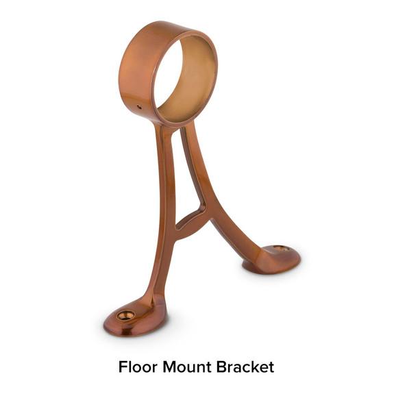 Floor Mount Bracket - Sunset Copper