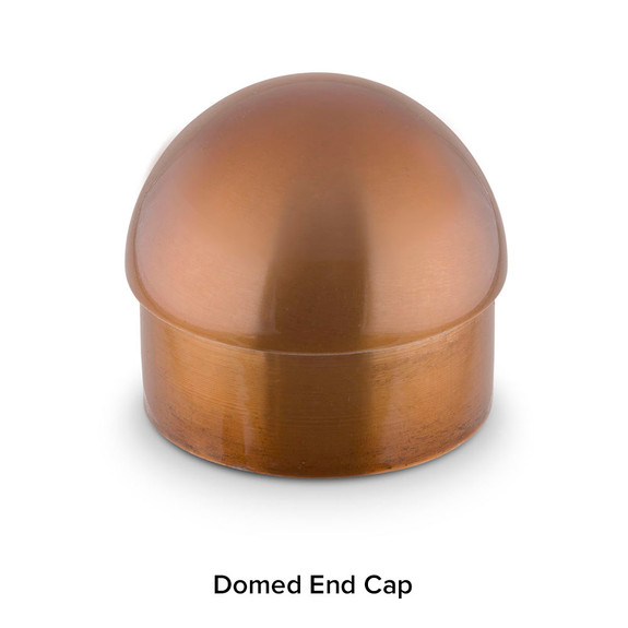 Domed End Cap - Sunset Copper