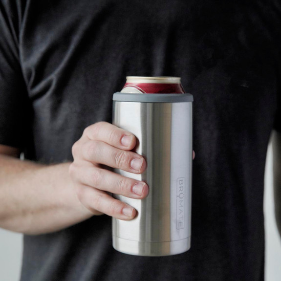 BruMate Hopsulator Trio 3 In 1 S/S Insulated Can Cooler - Holds 12 oz & 16 oz Cans Or Use As A Pint Glass
