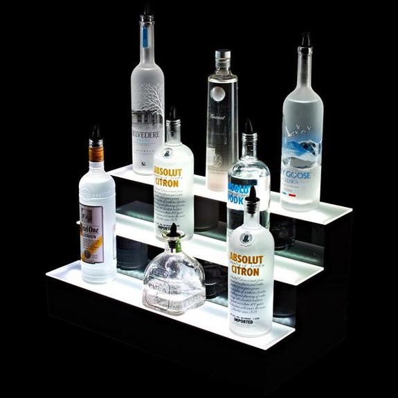 3 Tier LED Lighted Liquor Bottle Display Shelf