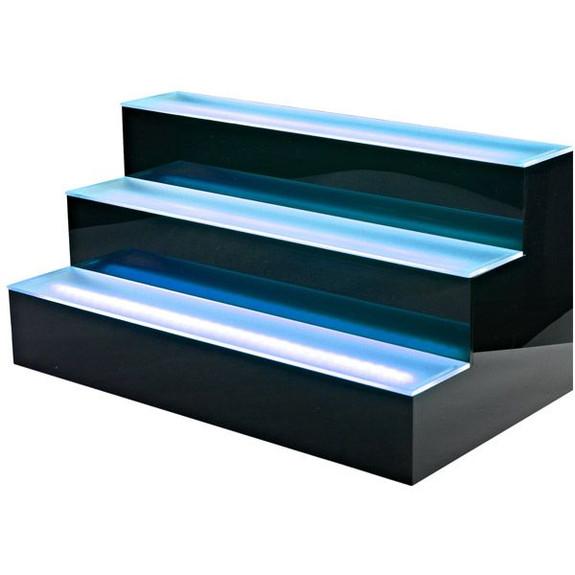 3 Tier LED Lighted Liquor Bottle Display Shelf Blue