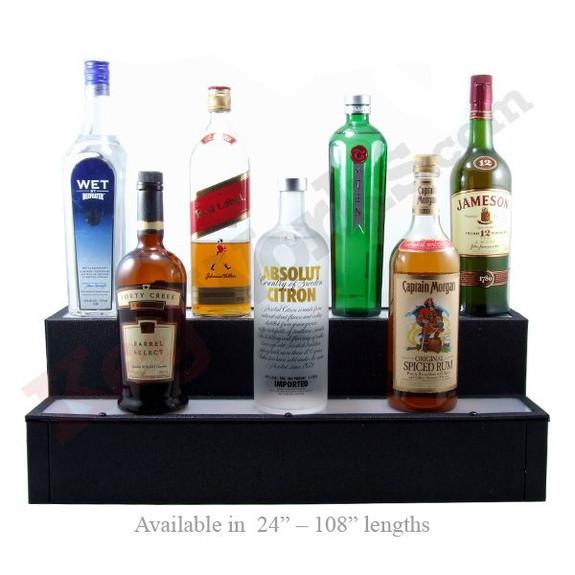 Lighted Liquor Bottle Shelf