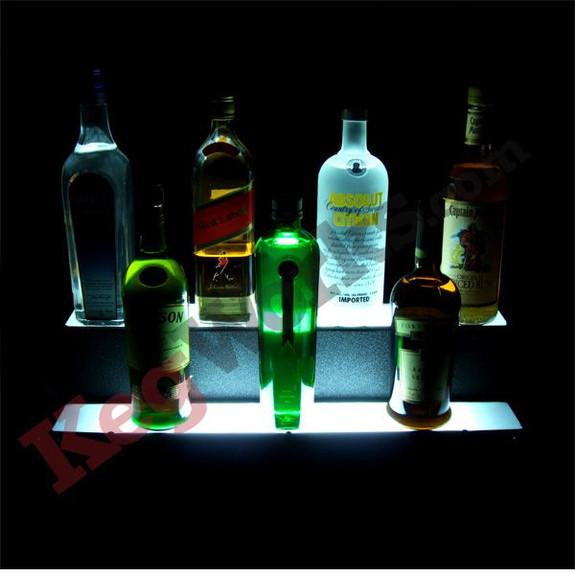 Lighted Liquor Bottle Display Steps