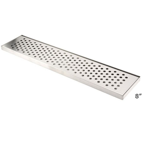 8-inch Wide Countertop Drip Tray for T Towers - With Drain