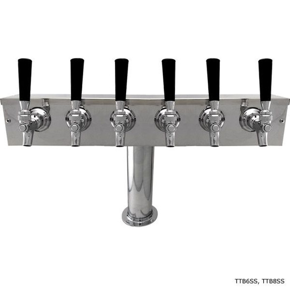 Stainless Steel Glycol-Ready T Towers with 4-inch Pedestal