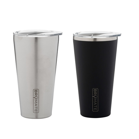 BruMate Imperial Pint with Splash-Proof Lid - 20 oz - Double Wall Vacuum Insulated S/S