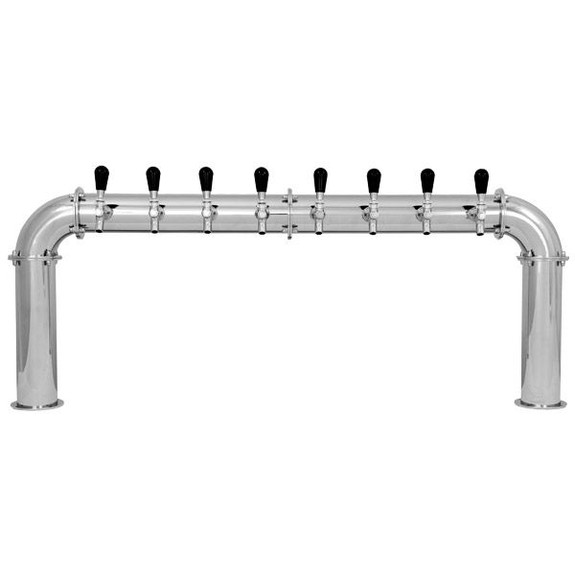 Stainless Steel Arcadia Draft Towers - Glycol Cooled - 8 Faucets