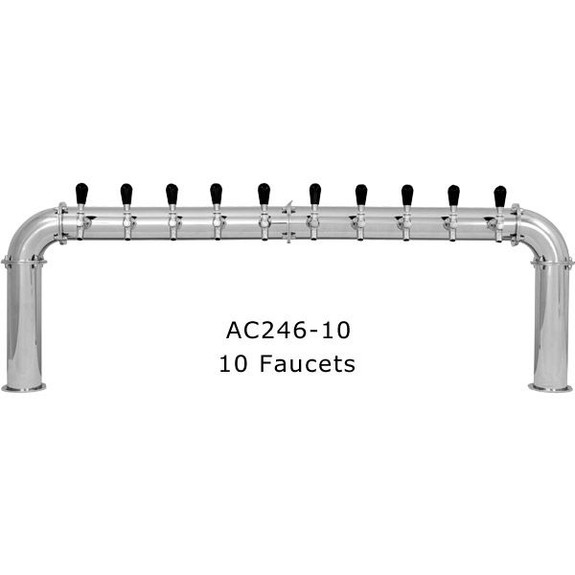 Stainless Steel Arcadia Draft Towers - Glycol Cooled - 10 Faucets