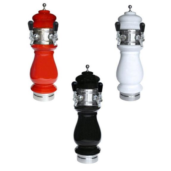 Ceramic Draft Towers - Chrome - Air Cooled - 2 Taps