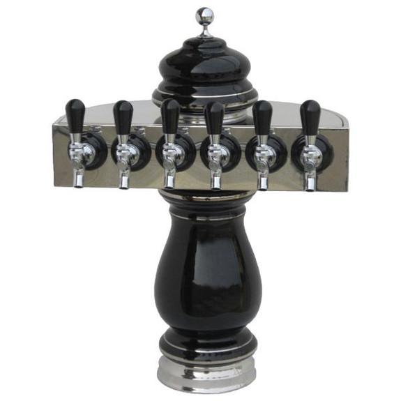 Ceramic Draft Towers - Chrome - Air Cooled - 6 taps