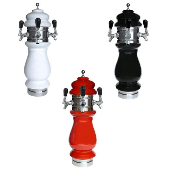 Ceramic Draft Towers - Chrome - Air Cooled - 3 Taps