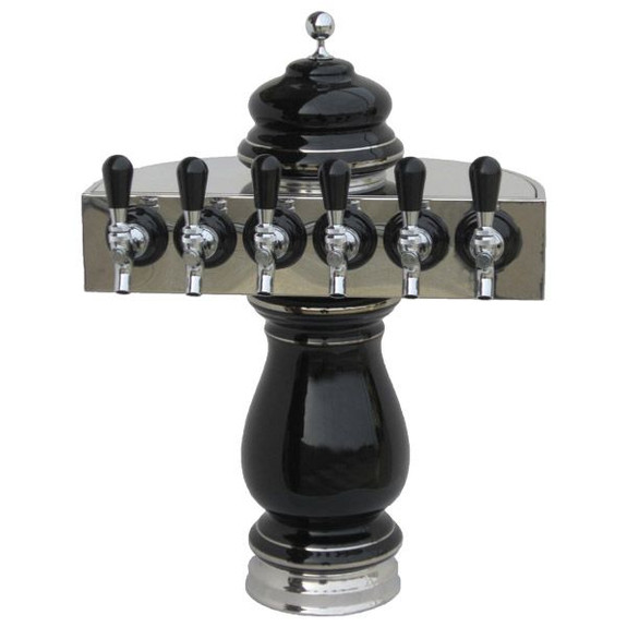 Ceramic Draft Towers - Chrome - Air Cooled - 6 taps