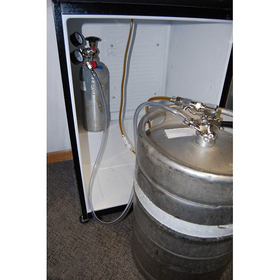 Beer Line with Quick Disconnects in Kegerator