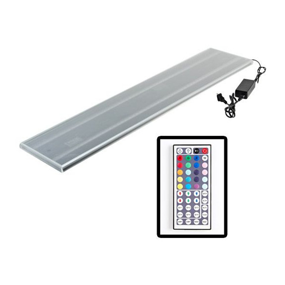 Double Wide LED Lighted Liquor Bottle Display Rail Off