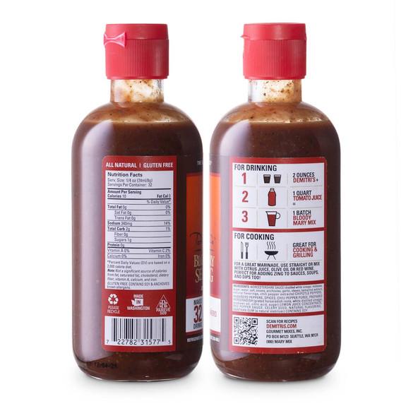 Demitri's Bloody Mary Seasoning Mix 8 oz Variety Pack - Set of 4