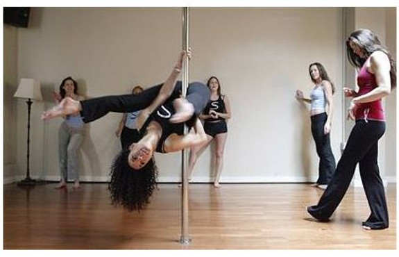 Brass dancer pole