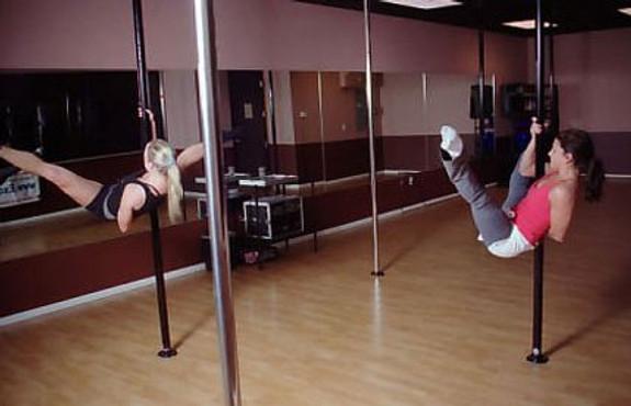 Brass dancer pole